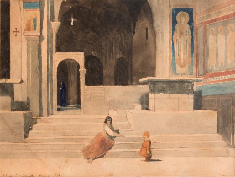 Dominique PAPETY (1815-1849) Saint Pierre et Toscarella. 1838.