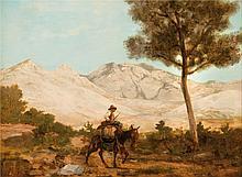Emile LOUBON (1809-1863)  Paysan sur son âne.