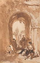 Félix ZIEM (1821-1911)  La mendiante.