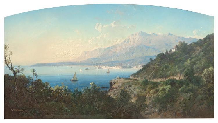 Vincent COURDOUAN (1810-1893) Baie de Villefranche.