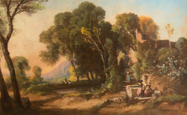 Vincent COURDOUAN (1810-1893)  Cabanon animé.