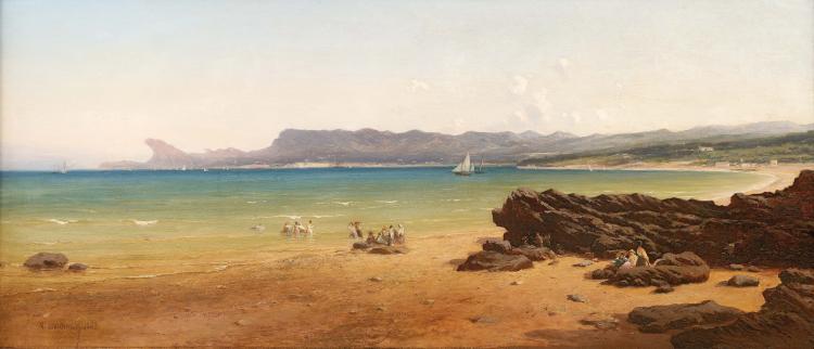 Vincent COURDOUAN (1810-1893) Bec de l'aigle à la Ciotat. 1863.