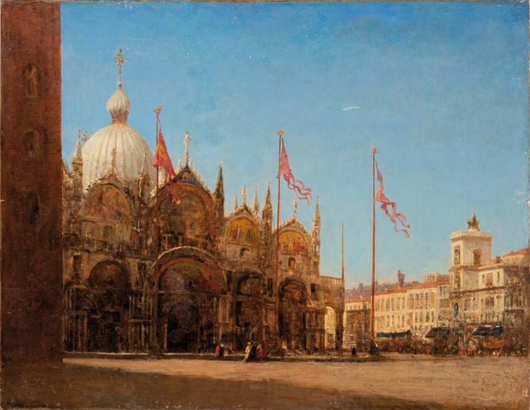 Félix ZIEM (1821-1911)  Basilique San Marco à Venise.