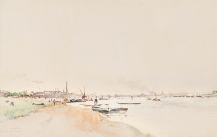 Alfred CASILE (1848-1909)  Les quais de Bercy.