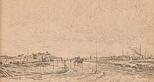 Alfred CASILE (1848-1909)  Calèche sur le chemin.