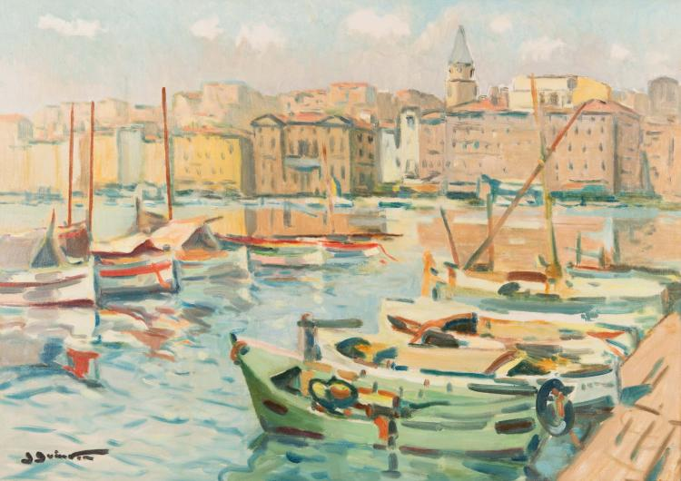 Jean GUINDON (1883-1976) Le port de Marseille.