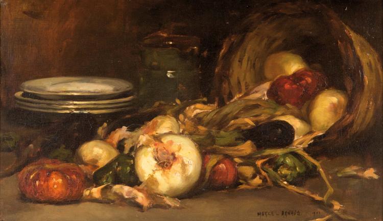 Marcel ARNAUD (1877-1956) Nature morte aux oignons. 1904.