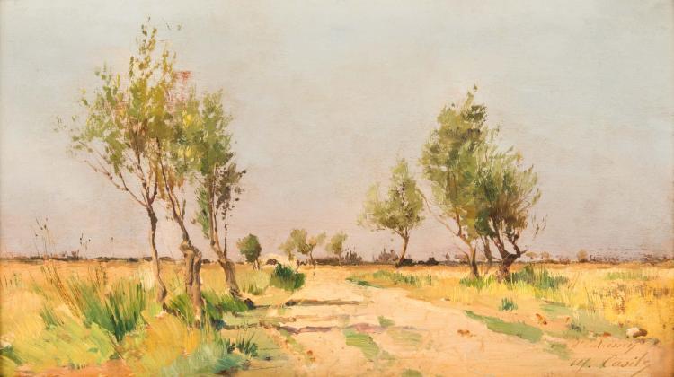 Alfred CASILE (1848-1909) Vue provençale.