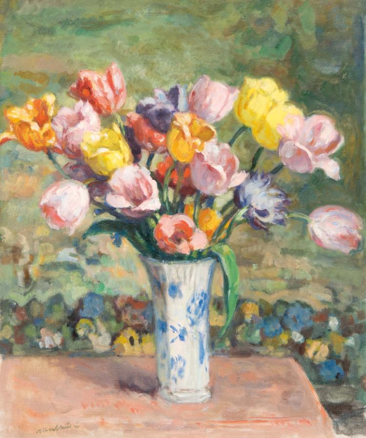 Albert ANDRÉ (1869-1954)  Nature morte au bouquet de fleurs.