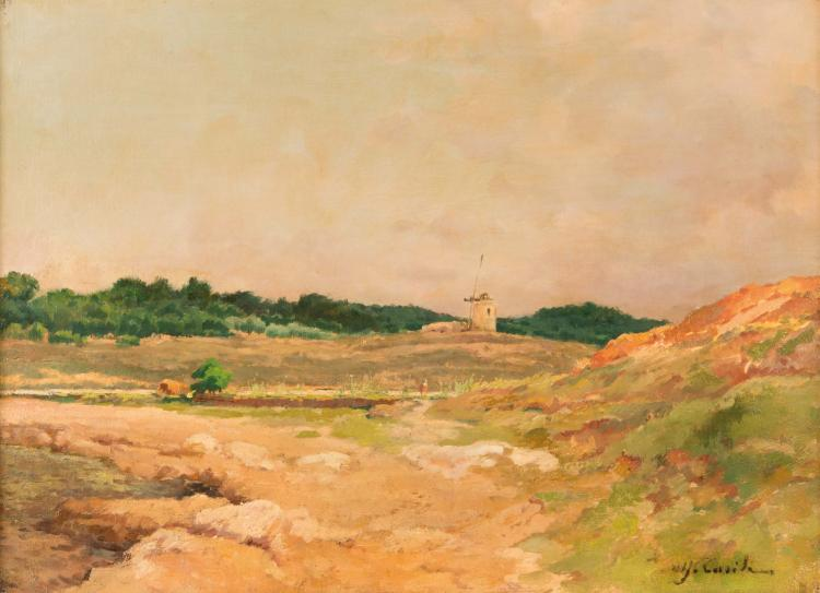 Alfred CASILE (1848-1909) Le moulin en Provence.