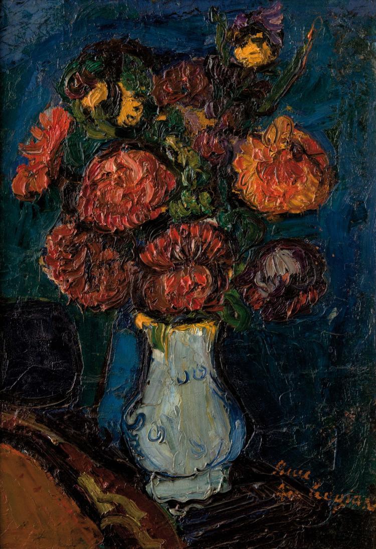 Pierre AMBROGIANI (1907-1985) Bouquet de fleurs.