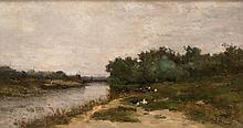 Alfred CASILE (1848-1909)  Paysage de l'Huveaune.