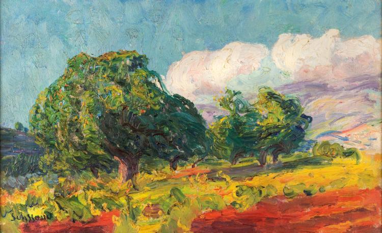 René SEYSSAUD (1867-1952)  Le grand arbre.