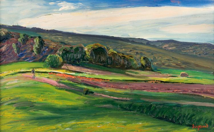 René SEYSSAUD (1867-1952)  Paysage.