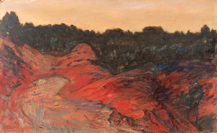 René SEYSSAUD (1867-1952)  Dans les ocres. Circa 1906.