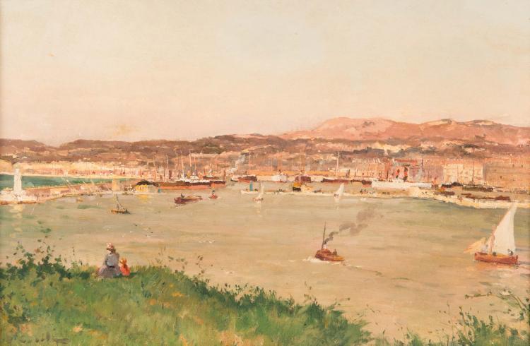 Alfred CASILE (1848-1909)  Le bassin de la Joliette.