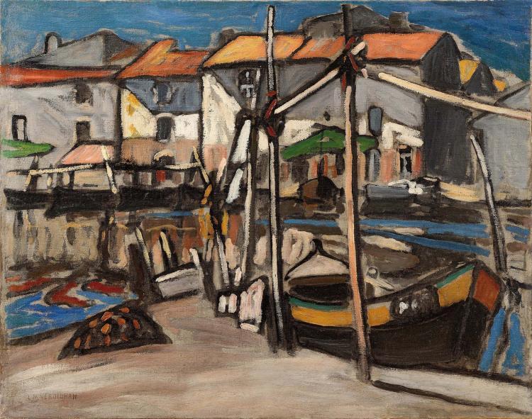Louis-Mathieu VERDILHAN (1875-1928)  Martigues, le miroir aux oiseaux.