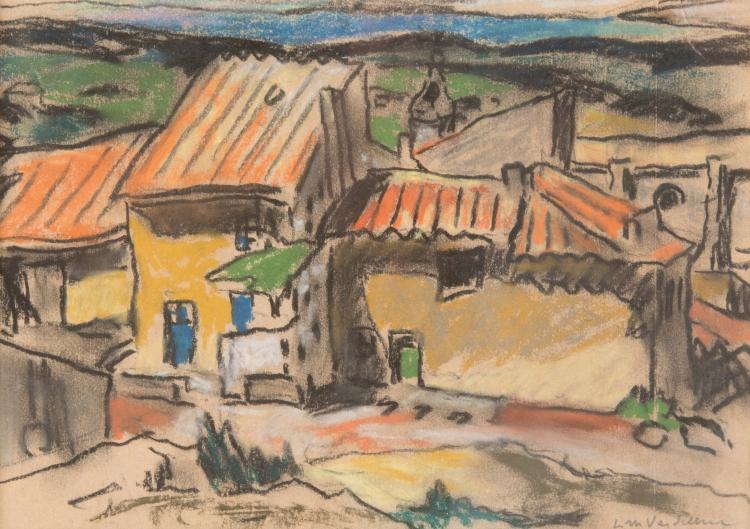 Louis-Mathieu VERDILHAN (1875-1928)  Maison en Provence.