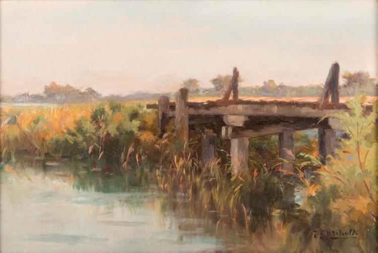 Joseph GARIBALDI (1863-1941) Le pont.