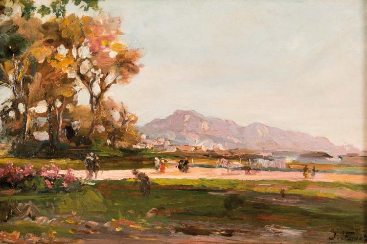Joseph FAUST (1868-1934)  Parc Borély.