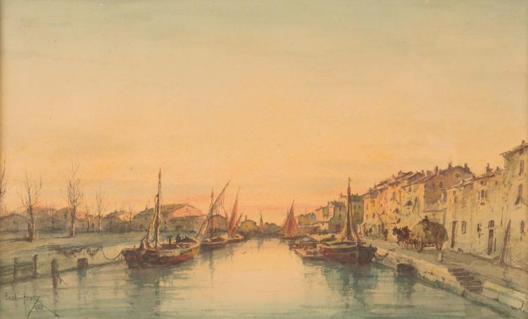 Emile HENRY (1842-1920) Les Martigues. 1918.