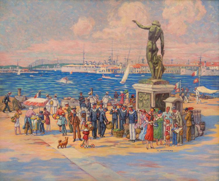 Henri AURRENS (1873-1934)  Le Cuverville de Toulon.