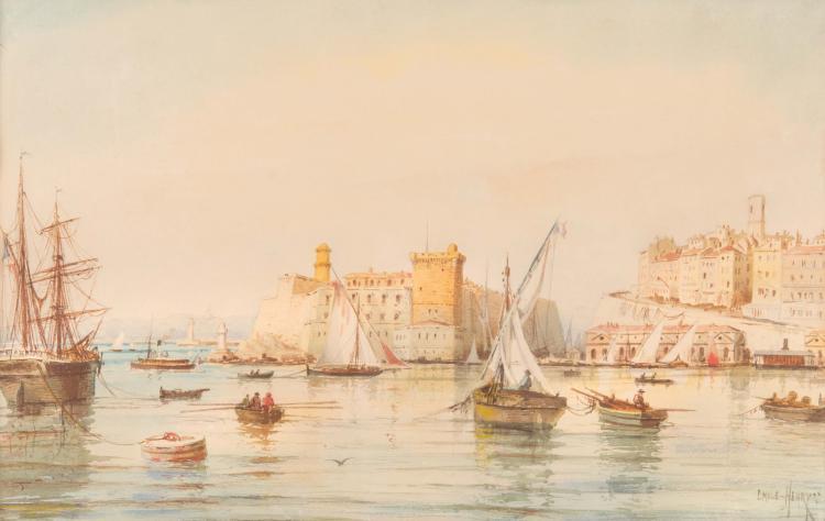 Emile HENRY (1842-1920)  Fort Saint Jean à Marseille.