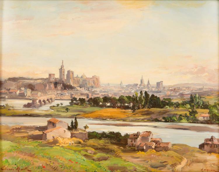 Étienne Philippe MARTIN (1856/58-1945) Vue d'Avignon.