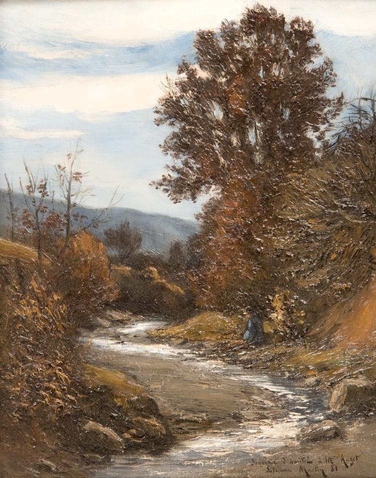 Étienne Philippe MARTIN (1856/58-1945) Lavandière. 1881.