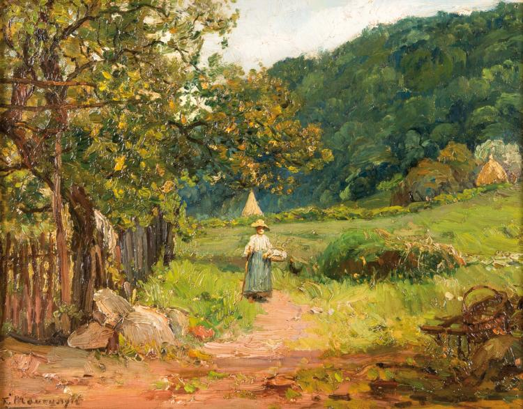 François MAURY (1861-1933)  La promenade. 1912.