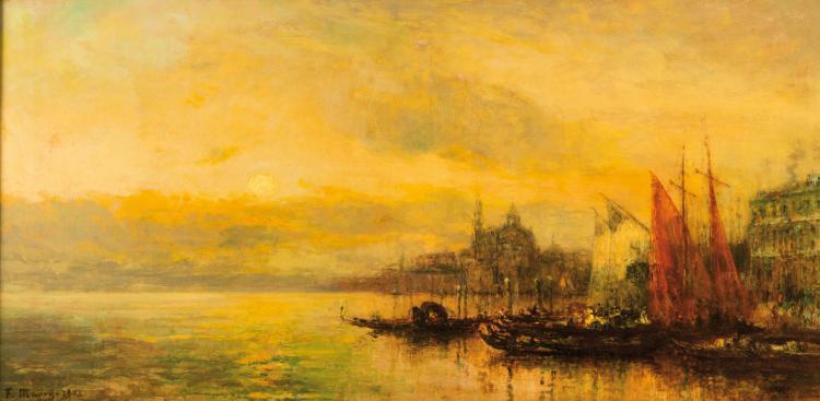 François MAURY (1861-1933)  Venise. 1908.