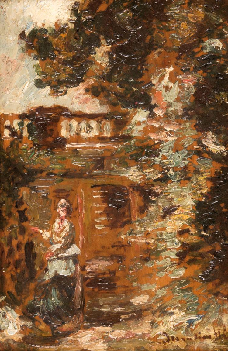 Adolphe MONTICELLI (1824-1886)  La terrasse.