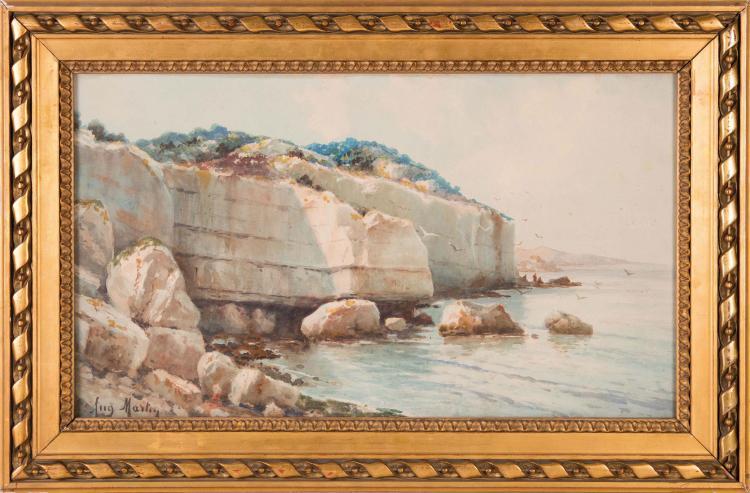 Auguste martin 1828 1910 bord de c te for Auguste chabaud cote