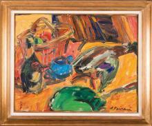 Antoine FERRARI (1910-1995) Nature morte au canard
