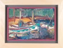 Antoine FERRARI (1910-1995) Vue de port