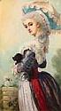 Charles Edouard BOUTIBONNE (1816- 1897). Elégante