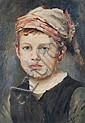 Georges REGNAULT (1843-1871)Portrait de jeune homme.Huile sur panneau.Signée en bas à droite.27 x 19 cm.