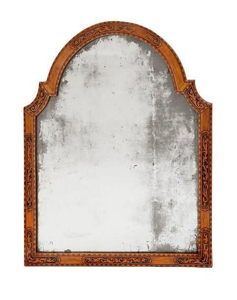 Pierre hache 1705 1776 miroir d 39 applique cadre en noyer for Applique led miroir