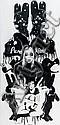 PURE EVIL  Sans titre (2007).  Pochoir sur toile.  Signée et datée au dos.  145 x 70 cm.,  Pure Evil, Click for value
