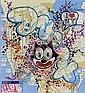 QUIK (1958)  Sans titre.  Marqueur et feutre sur plan de métro  de New York.  Signé.  63 x 58 cm., Lin Felton, Click for value