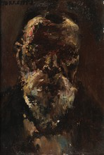 Stanislas TORRENTS Y DE AMAT  (1839-1916)  Autoportrait.  Huile sur panneau.  Signée en bas à gauche.  26 x 17 cm.