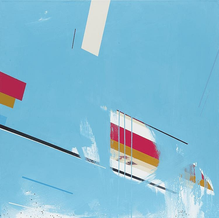 Remi Rough (1971)Andromeda (2010).Technique mixte sur toile.100 x 100 cm.