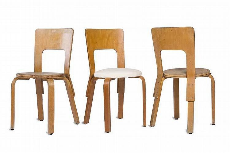 alvar aalto 1898 1976 chaise mod le n 66 bois lamell coll