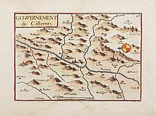 TASSIN   Gouvernement de Cisteron. Gravure en couleurs, 1634. 10,5 x 15 cm.   P. Tassin VIII-2 / 22.