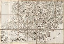 JAILLOT / DENIS Une carte de Provence peu connue et la plus exacte pour l'époque. Carte de la Provence dressée d'après les manuscrits de plusieurs ingénieurs de la Province par M. Jaillot, géographe ordinaire de sa Majesté. Terminé par L. Denis,