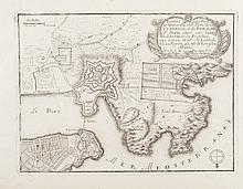 DE FER   L'entrée du Port de Marseille et le plan de la Citadelle et du Fort St Jean.   Gravure, 1695. 18 x 25 cm.