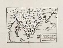 TASSIN   Deux cartes :   - Gouvernement de Marseille.   - Château d'If.   Gravure, 1634. 10,5 x15 cm. chaque. P. Tassin VIII-3 / 2 et 4.