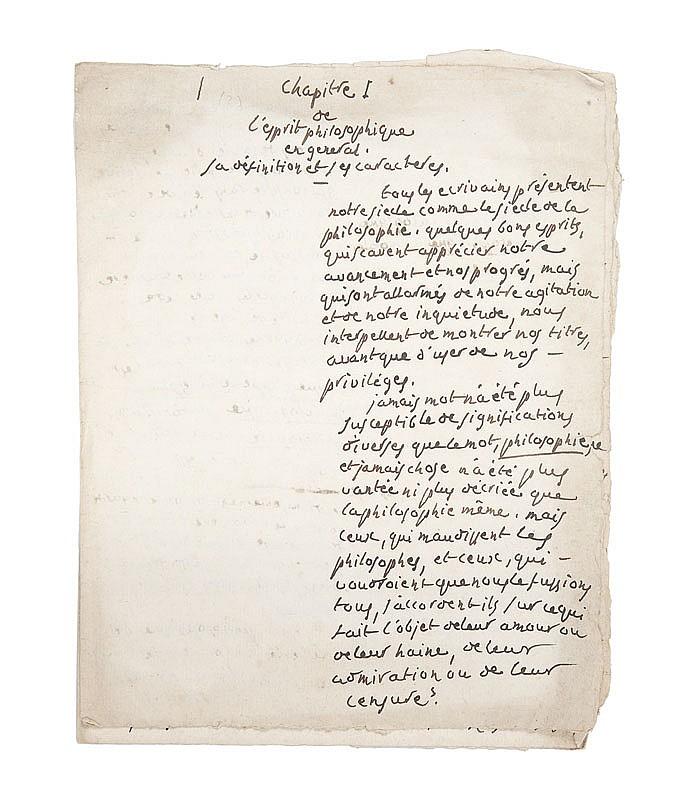PORTALIS Jean-Etienne-Marie (1746-1807) De l'usage et de l'abus de l'esprit philosophique durant le XVIIIe siècle 1798-1800 MANUSCRIT en grande partie autographe, non signé non daté, 1322 pages in-quarto et in-folio dont 1039 pages de la main de