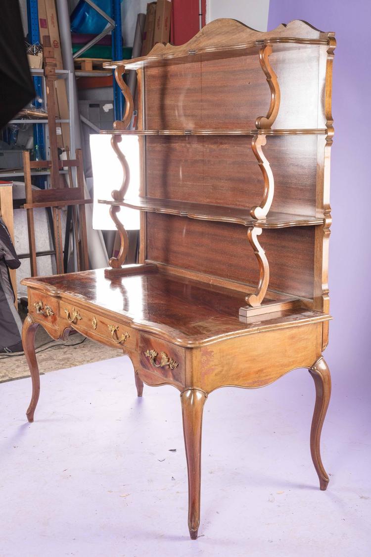 bureau plat et son etagere. Black Bedroom Furniture Sets. Home Design Ideas