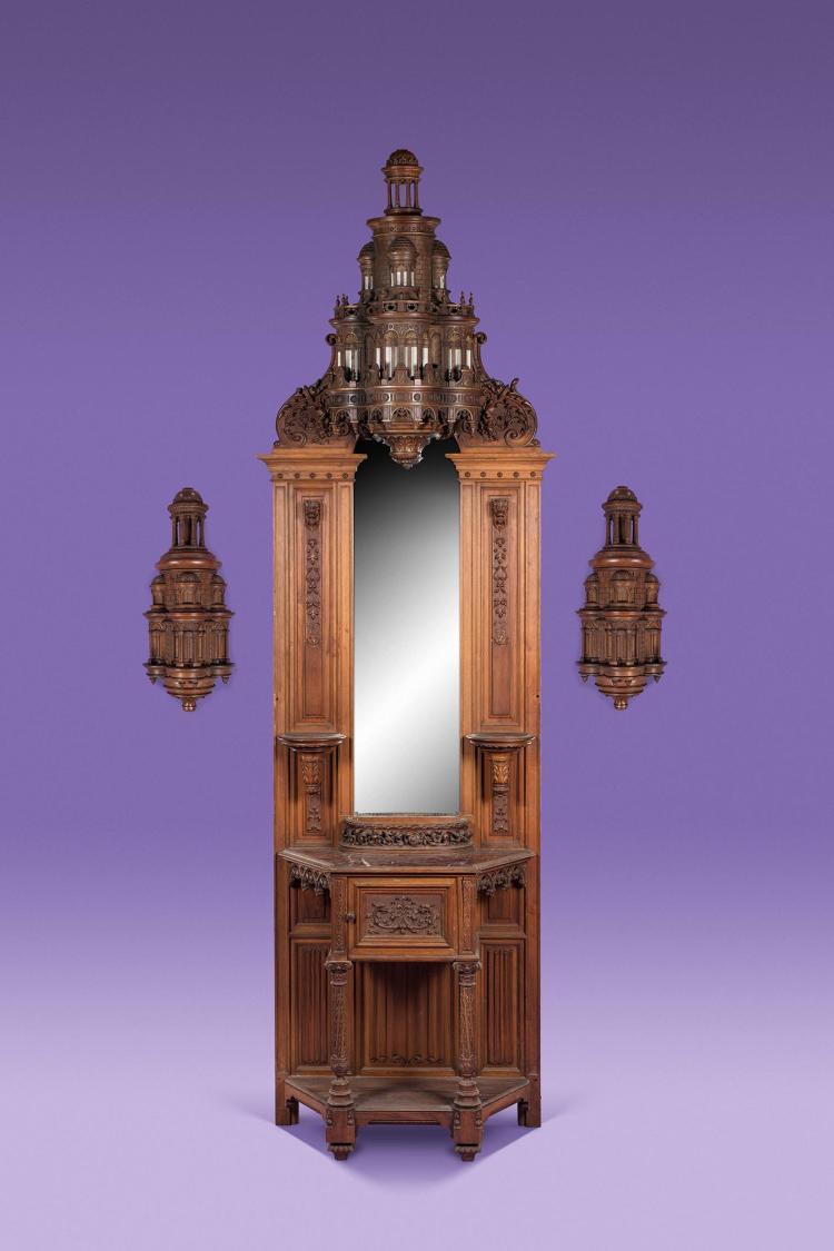 Important meuble de vestibule - Meuble de vestibule ...